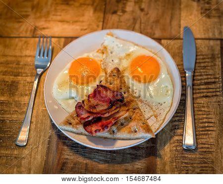 Morning Table Breakfast Egg Tea Toast Jam. Effect Toning Instagram. Kinfolk Stil Life Top View