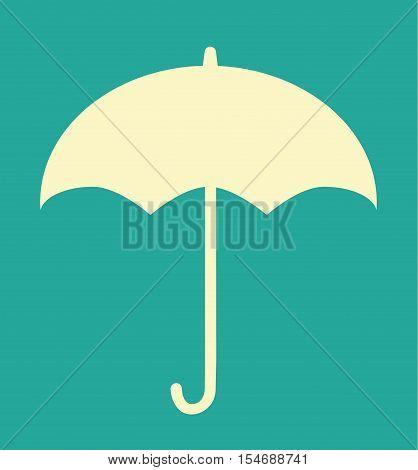 Retro Vintage Umbrella Autumn Isolated Vector Illustration Icon Flat Stock