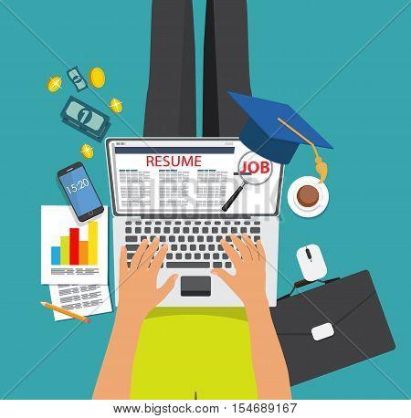 Recrutment Strategy Business Concept. External International relations directors. Vector Illustration EPS10