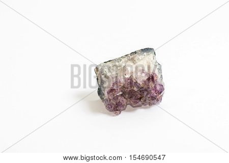 Crystals of the violet coloured gemstone Amethyst