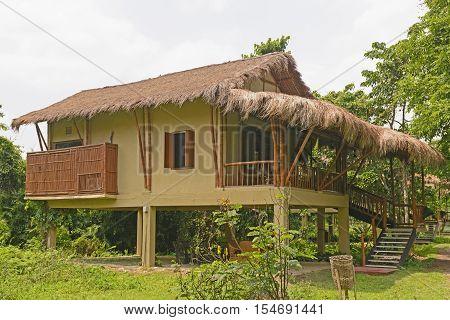 Tourist hut in the jungle of Assam India