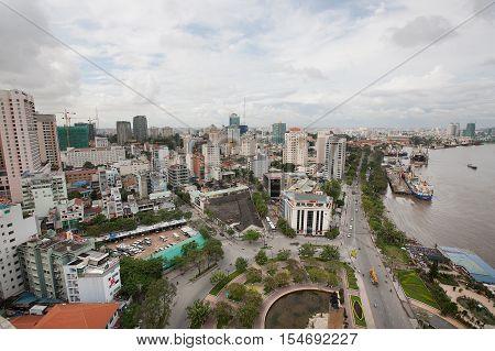 Saigon River Ho Chi Minh Vietnam