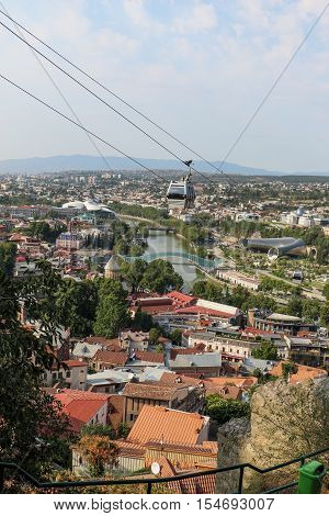 Beautiful Panoramic View Of Tbilisi