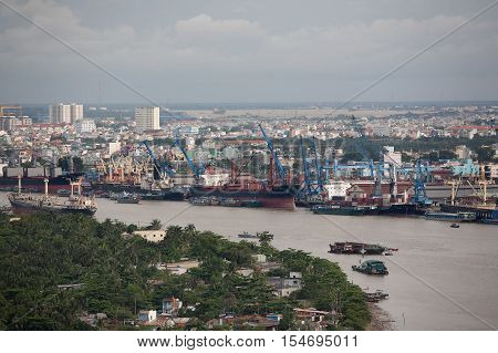 Shipping Saigon River Vietnam