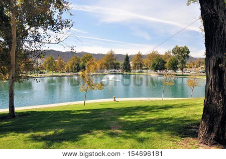 View of a city park in Temecula, California.