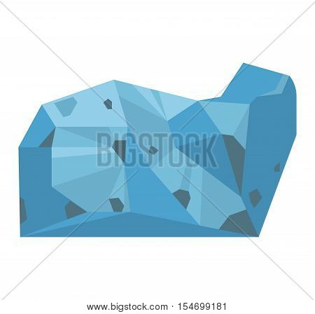 Semi precious gemstones vector stone and mineral stone isolated on white background. Colorful shiny gemstone. Mineral stone jewelry material agate mineral stone geology nature crystal.