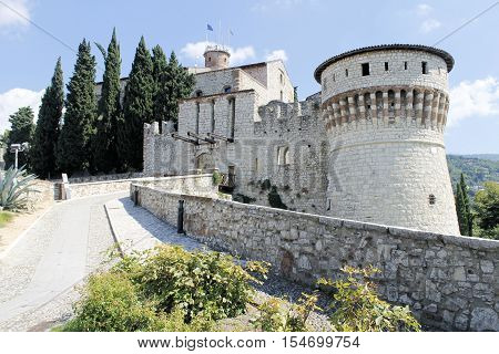 ancient castle in Brescia, a city in northern Italy