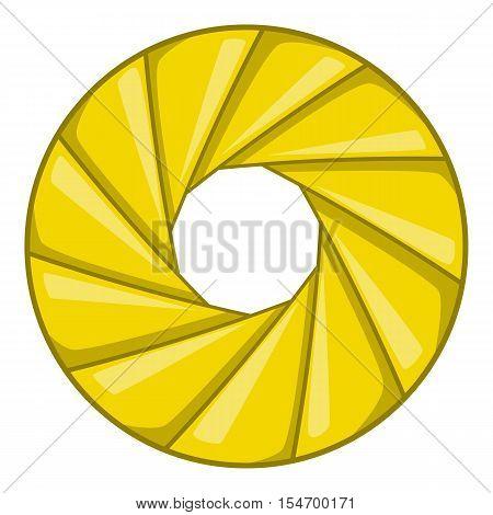 Diaphragm icon. Cartoon illustration of shutter vector icon for web design
