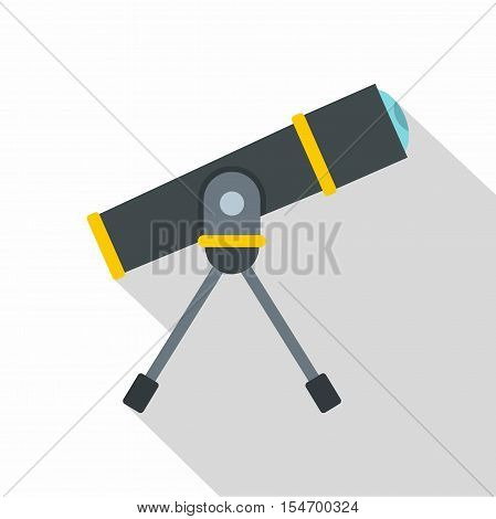 Telescope icon. Flat illustration of telescope vector icon for web isolated on white background