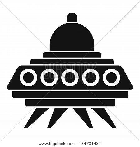 Alien spaceship icon. Simple illustration of alien spaceship vector icon for web