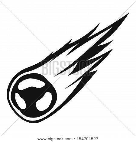 Falling meteor with long tail icon. Simple illustration of falling meteor with long tail vector icon for web