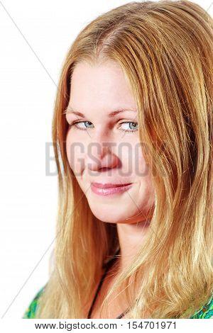 Sneaky Smiling Woman