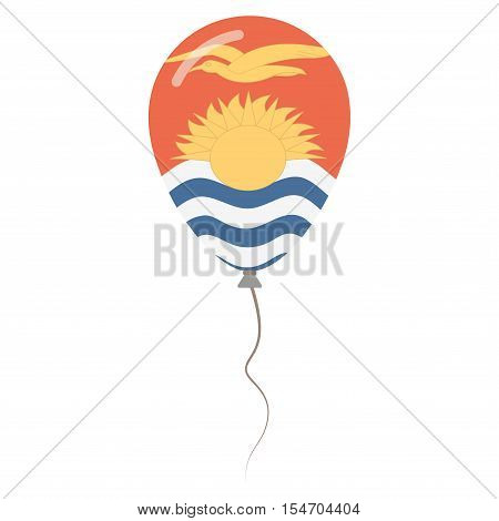 Republic Of Kiribati National Colors Isolated Balloon On White Background. Independence Day Patrioti