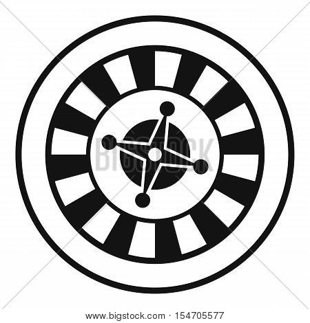 Casino gambling roulette icon. Simple illustration of casino roulette vector icon for web