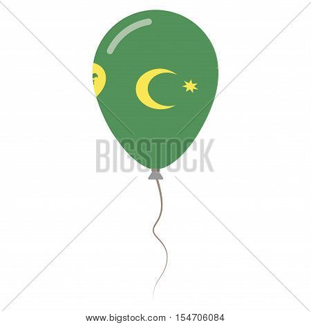 Territory Of The Cocos Islands National Colors Isolated Balloon On White Background. Independence Da