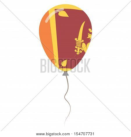 Democratic Socialist Republic Of Sri Lanka National Colors Isolated Balloon On White Background. Ind