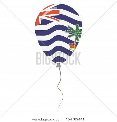 British Indian Ocean Territory National Colors Isolated Balloon On White Background. Independence Da