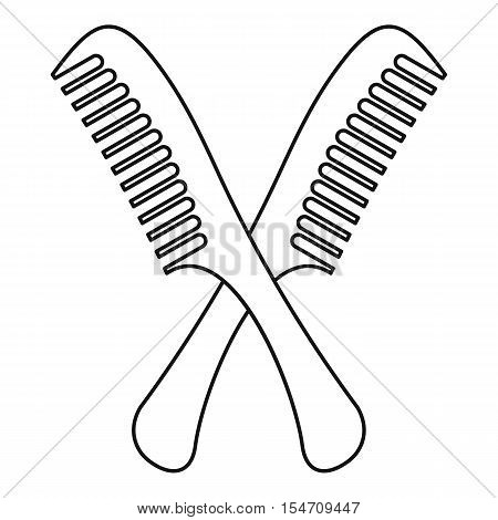Combs icon. Outline illustration of combs vector icon for web
