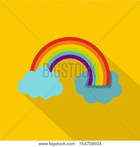 Rainbow in LGBT color icon. Flat illustration of rainbow in LGBT color vector icon for web