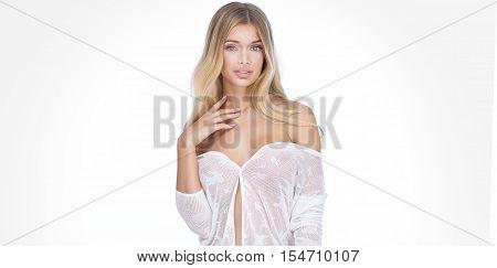 Natural Sensual Blonde Lady.
