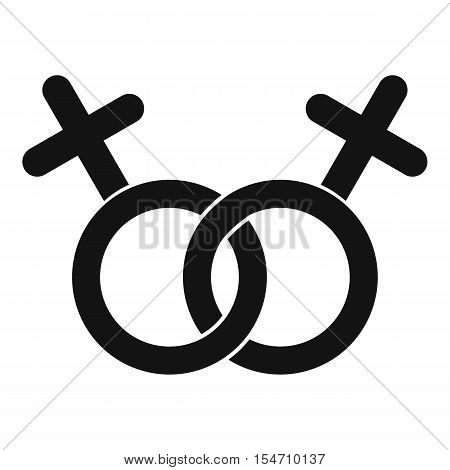 Lesbian love sign icon. Simple illustration of lesbian love sign vector icon for web