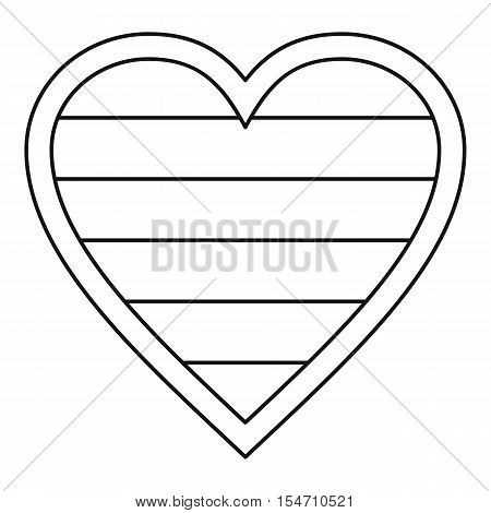 Heart LGBT icon. Outline illustration of heart LGBT vector icon for web