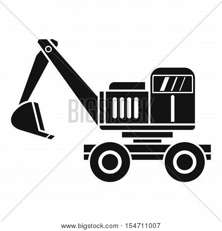 Excavator icon. Simple illustration of excavator vector icon for web