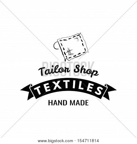 Tailor shop, sewing kit. Vector Illustration. Isolated On White Background