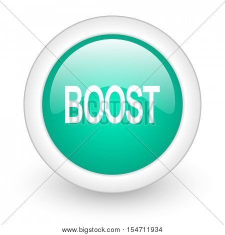 boost round glossy web icon on white background