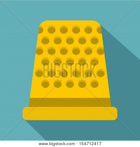 Thimble icon. Flat illustration of thimble vector icon for web