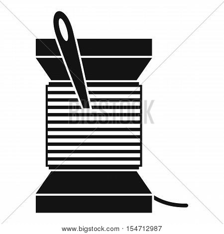 Needle and thread icon. Simple illustration of needle and thread vector icon for web