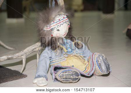 Yakut Handmade Doll. The Object Of Folk Art.