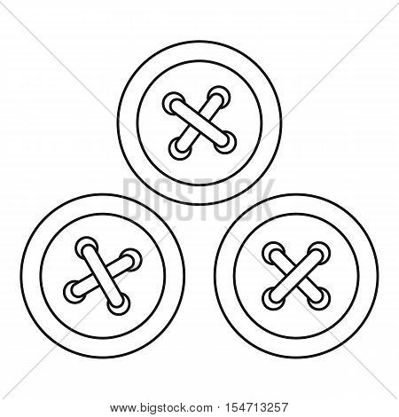 Buttons for sewing icon. Outline illustration of buttons for sewing vector icon for web