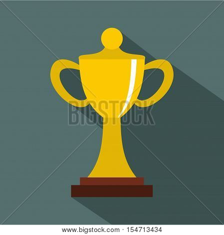 Championship cup icon. Flat illustration of championship cup vector icon for web