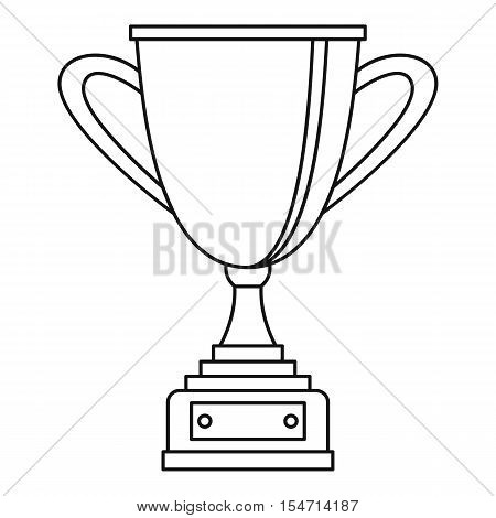 Gold cup for championship icon. Outline illustration of gold cup for championship vector icon for web