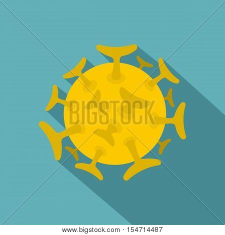 Round viral bacteria icon. Flat illustration of round viral bacteria vector icon for web