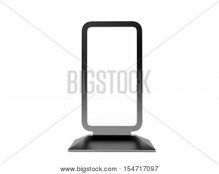 LCD Screen Stand. Blank Trade Show Booth. 3D rendering