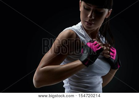 Close Up Of Fitness Female Model