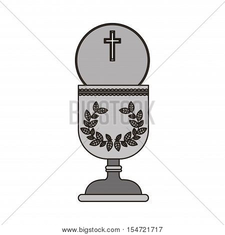 holy grail. religion catholic and christianity icon. vector illustration