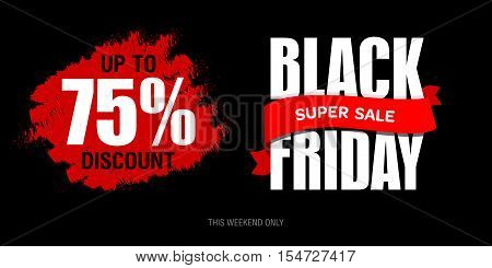 Black Friday Sale Inscription Best Design Template. Black Friday Banner, Poster, Badge, Sticker, Web