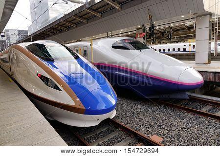 Shinkansen Trains At Tokyo