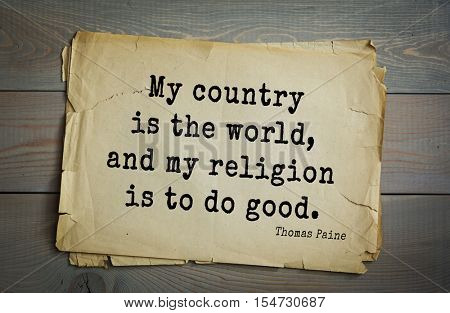 Top 40 quotes by Thomas Paine - English-American political activist, philosopher, political theorist, revolutionary. 