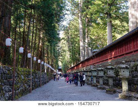 People Visit Tosho-gu Shrine In Nikko