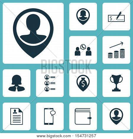 Set Of Human Resources Icons On Money Navigation, Tournament And Job Applicants Topics. Editable Vec