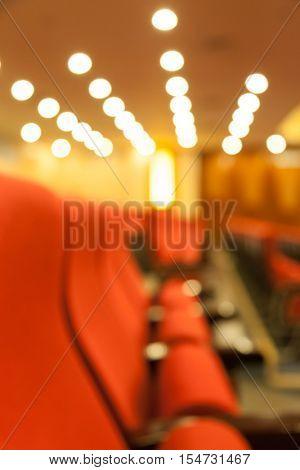 seats in theator,blur background