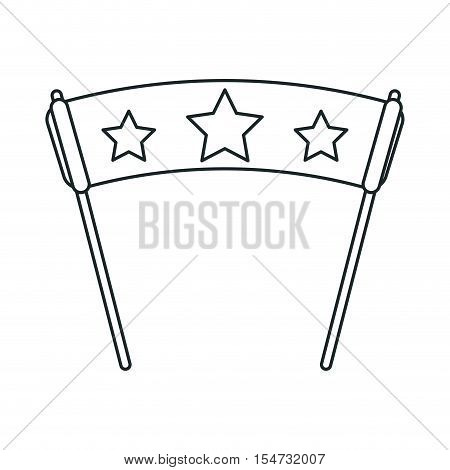 Banner with star icon. Fair carnival circus and fairground theme. Isolated design. Vector illustration