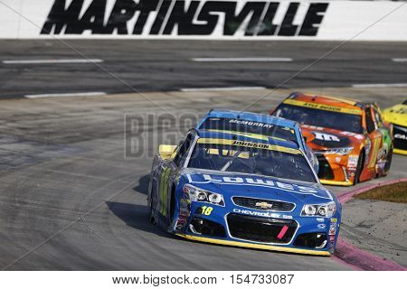 Martinsville, VA - Oct 30, 2016: Jimmie Johnson (48) battles for position during the Goody's Fast Relief 500 at the Martinsville Speedway in Martinsville, VA.