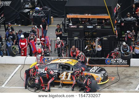 Martinsville, VA - Oct 30, 2016: Kurt Busch (41) brings his race car in for service during the Goody's Fast Relief 500 at the Martinsville Speedway in Martinsville, VA.