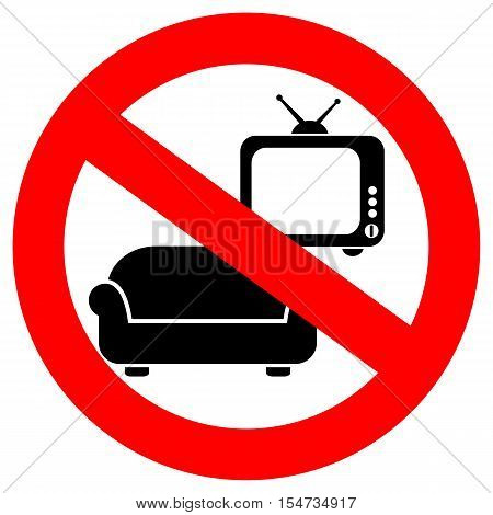 No tv vector sign, do not waste your time illustration isolated on white background
