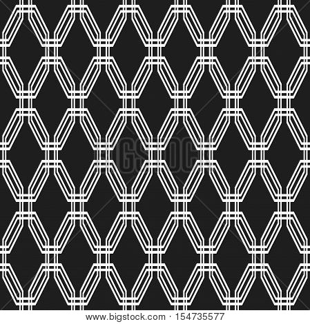 Geometric fine abstract octagonal background. Seamless modern pattern. Black and white pattern